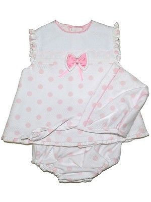 White and Pink Polka Dot 3 piece outfit