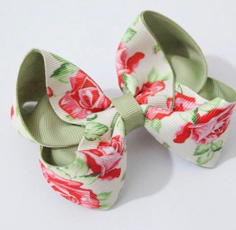 Rose Bud Bow in Sage