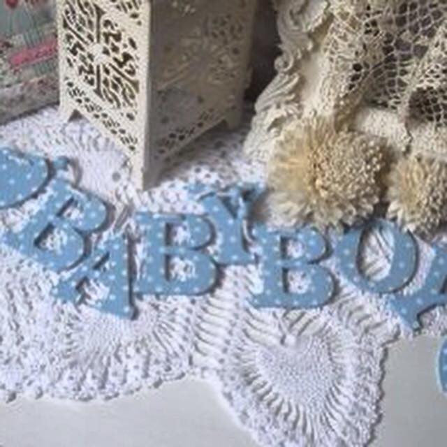 Baby Boy Wooden Hanging Garland