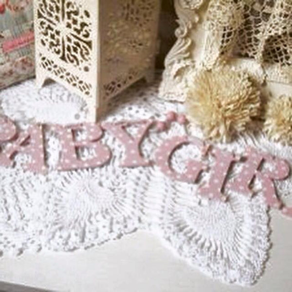 Baby Girl Wooden Hanging Garland