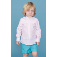 Dolce Petit Boys Pink Stripe Shirt & Aqua Shorts