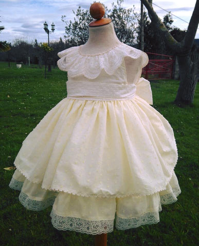 Dulce Bebe Lemon Plumetti Dress