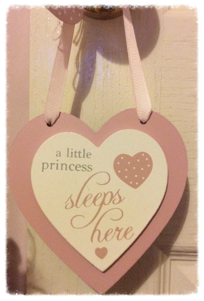 A little princess sleeps here plaque