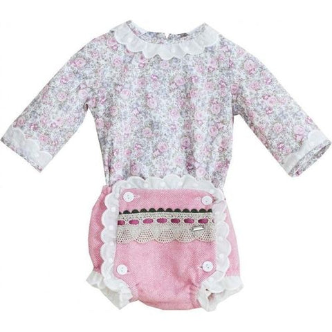 Dolce Petit Floral Blouse with matching Jam Pants