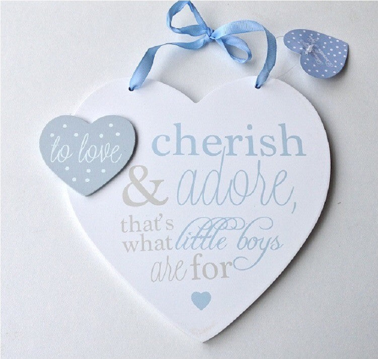 Cherish & Adore Heart Plaque