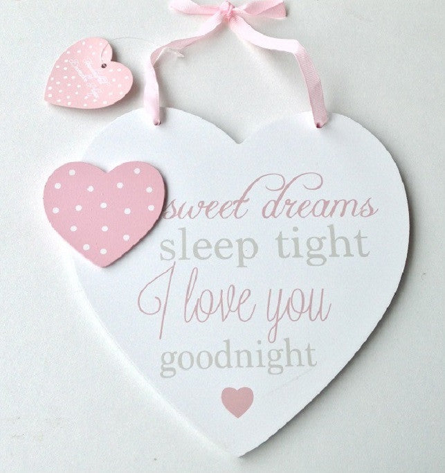 Pink Sweet Dreams Hanging Heart