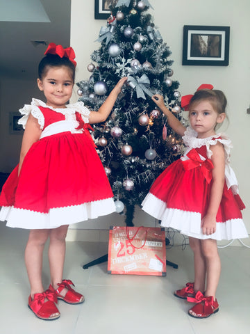 Christmas Red & White Dress