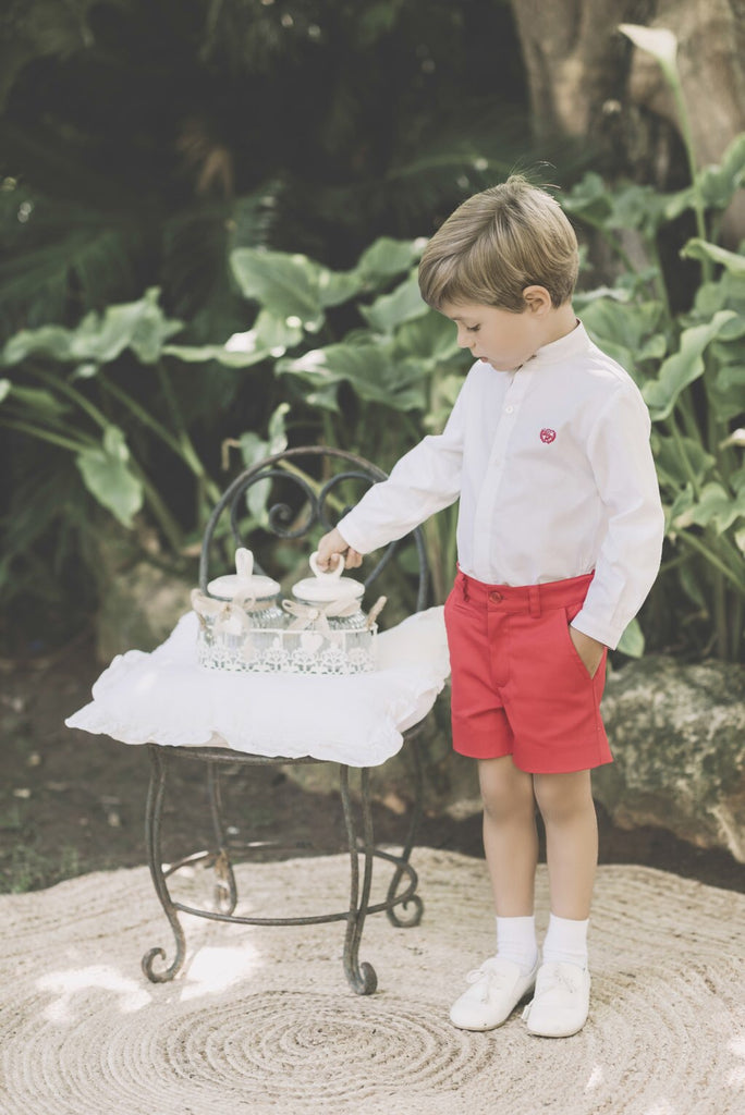 SS18 Dolce Petit Boys White & Red Shorts Set 2262/23