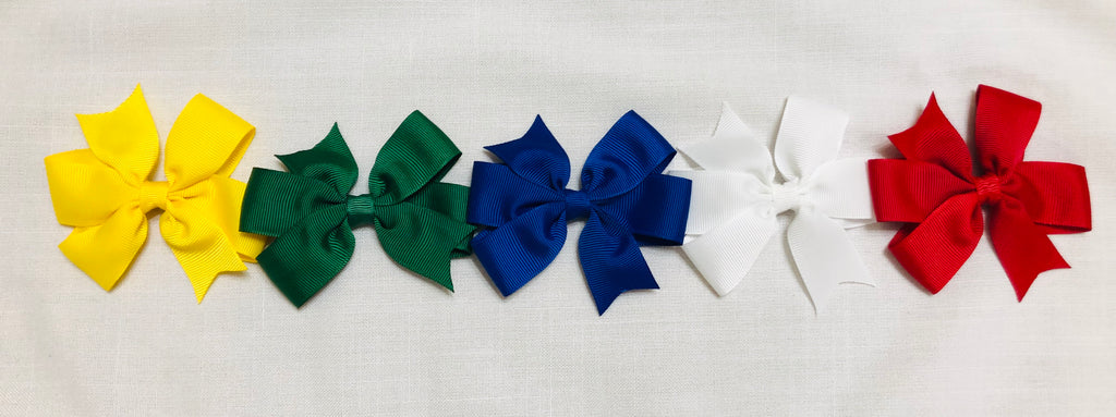 "House colours 3"" Pinwheel Bows"