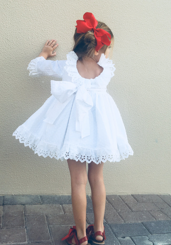 White Plumetti Puffball Dress