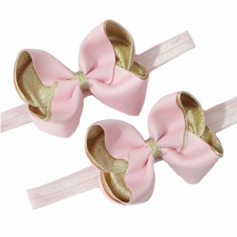 Baby Pink & Metallic Gold Baby Headband