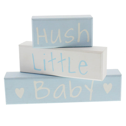 Hush Little Baby Blue Stacking Blocks