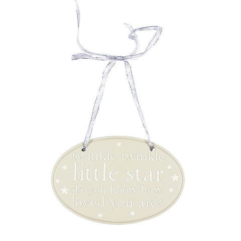 Twinkle Twinkle Oval Resin Plaque