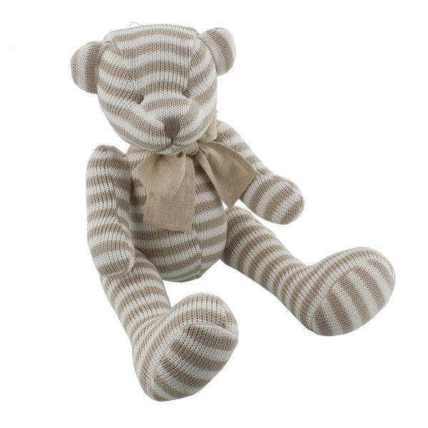 Large Knitted Beige & White Bear