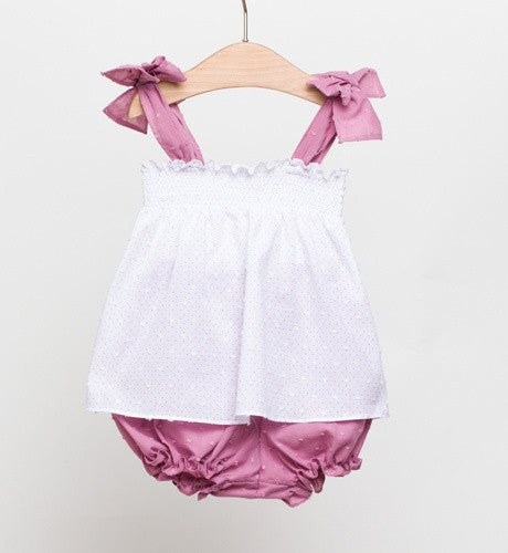 Fina Ejerique White Plumeti Blouse and Matching Bloomers