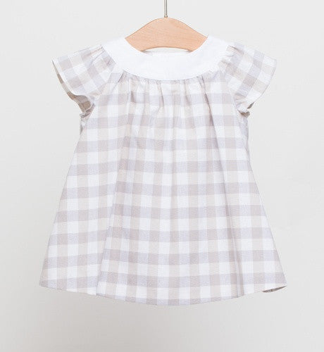 Fina Ejerique Beige and Grey Check Dress with matching Bloomers