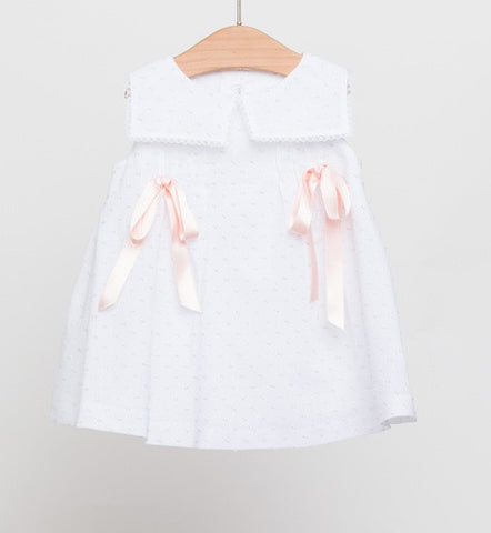 Fina Ejerique Plumetti Dress with Pink Ribbon