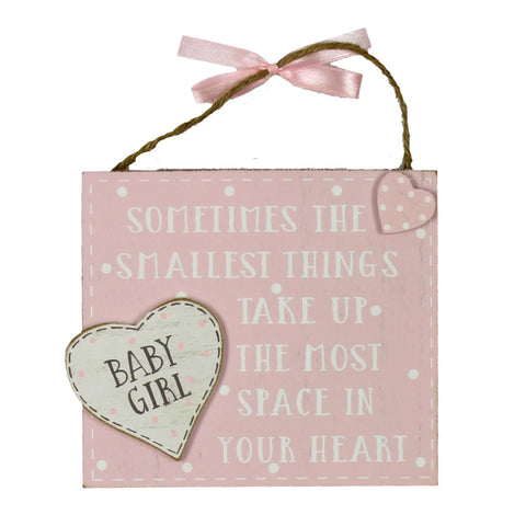 'The smallest things' Pink Plaque