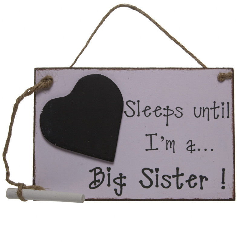 Sleeps until I'm a Big Sister plaque