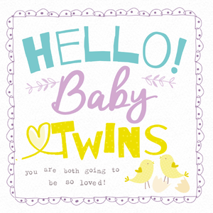 New Baby Twins Greeting Card