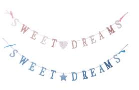 Wooden Sweet Dreams Bunting Chain Garland