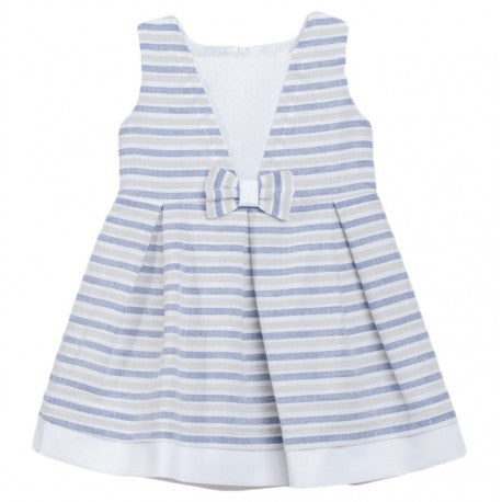 Fina Ejerique Blue, White & Grey Stripe Linen Dress