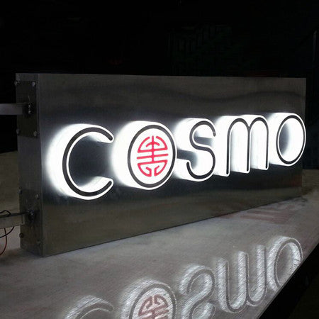 acrylic led illuminated built-up letters sign store front shop sign restaurant sign