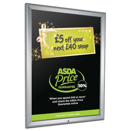 32mm lockable aluminium snapframe poster frame
