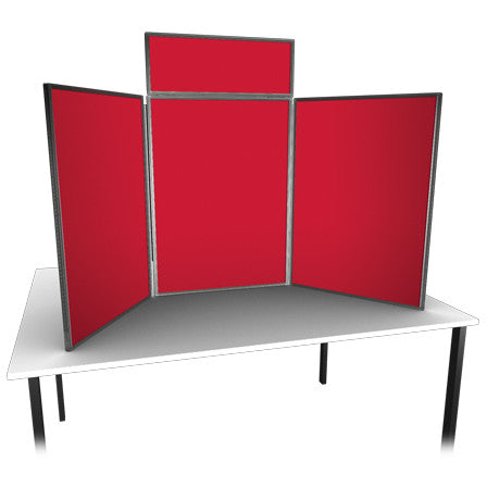 Large Table Top Folding Display with Single Header