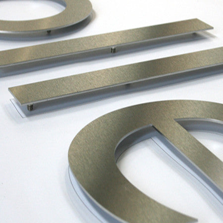 Brushed Stainless Steel Flat Cut Letters