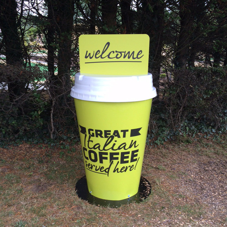Giant Forecourt Outdoor Coffee Cups Signs Signsaver
