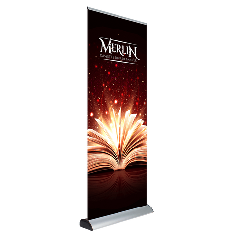 Merlin Roll-Up Banner with Replaceable/Interchangable Graphic Cassette