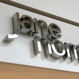 Built Up Mirror Polished Stainless Steel Letters