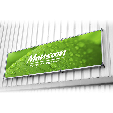 Monsoon Outdoor Wall Mounted Banner Frame
