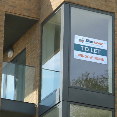 TO LET ESTATE AGENT SIGNS WITH SUCTION CUPS FITTED