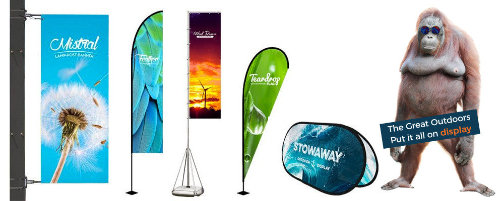 outdoor display advertising flags banners