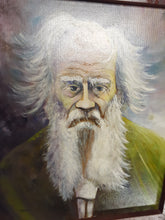 "Yurica Folk Art/Outsider Art - ""Tolstoy"" Oil Painting on Masonite"