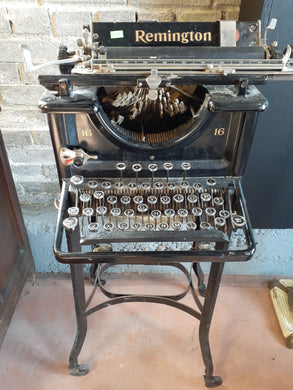 Antique Remington Typewriter w/ Caster Stand