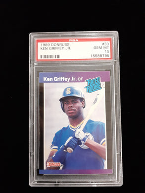 1989 Ken Griffey Jr. Donruss Rated Rookie PSA 10, Rookie Card RC Gem Mint