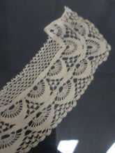 Beautiful Victorian Lace Collar Presented in a Vintage Wooden Frame