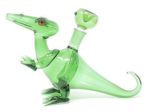 green dino pipe heady glass pipe up-n-smoke online smoke shop