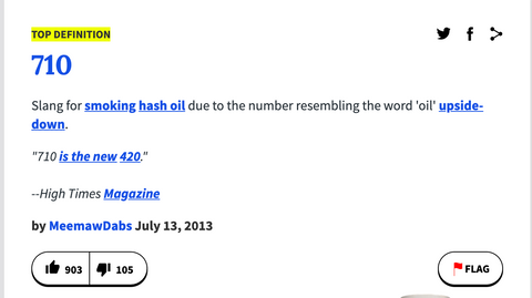 urban dictionary definition of 710