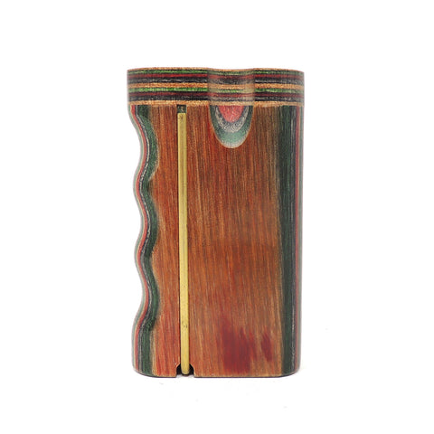 Premium Grip Multicolor Diamond Wood Twist Top With Poker Dugout