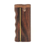 Premium Grip Walnut Diamond Wood Twist Top with Poker Dugout Dugout online smoke shop dug eeze dugouts taster boxes Up-N-Smoke Online Head Shop
