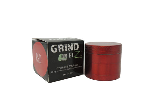 Grind Eeze 4 Part Zinc Grinder - Red