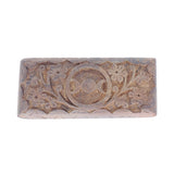 5.5in Carved Wood Keepsake Box - Triple Moons