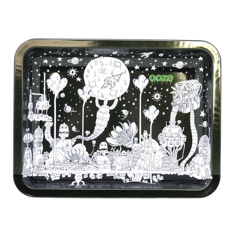 Ooze Metal Rolling Tray - Dystopia (SM, MED, LG)