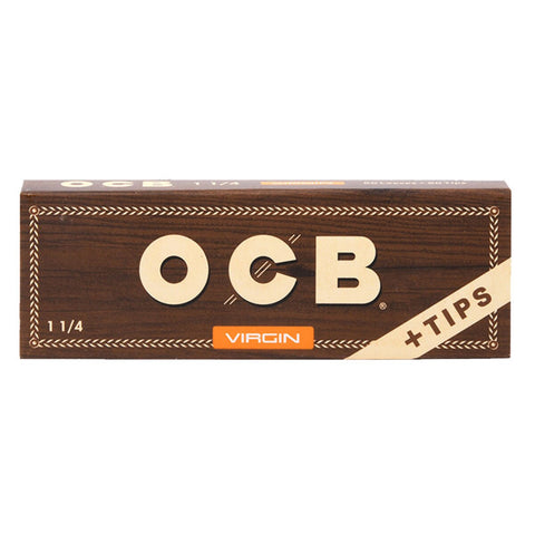 OCB Virgin 1.25 + Tips Rolling Papers