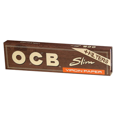OCB Virgin King Size Slim + Tips Rolling Papers