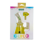 Ooze Glyco Glycerin Chilled Glass Water Pipe - Yellow